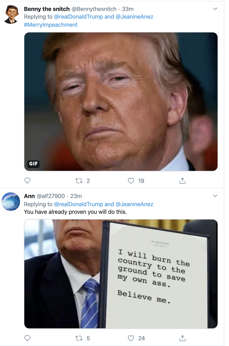 Screen-Shot-2019-12-17-at-1.49.37-PM Trump Goes Twitter Crazy Over Impeachment Tuesday Featured Foreign Policy Human Rights Politics Top Stories