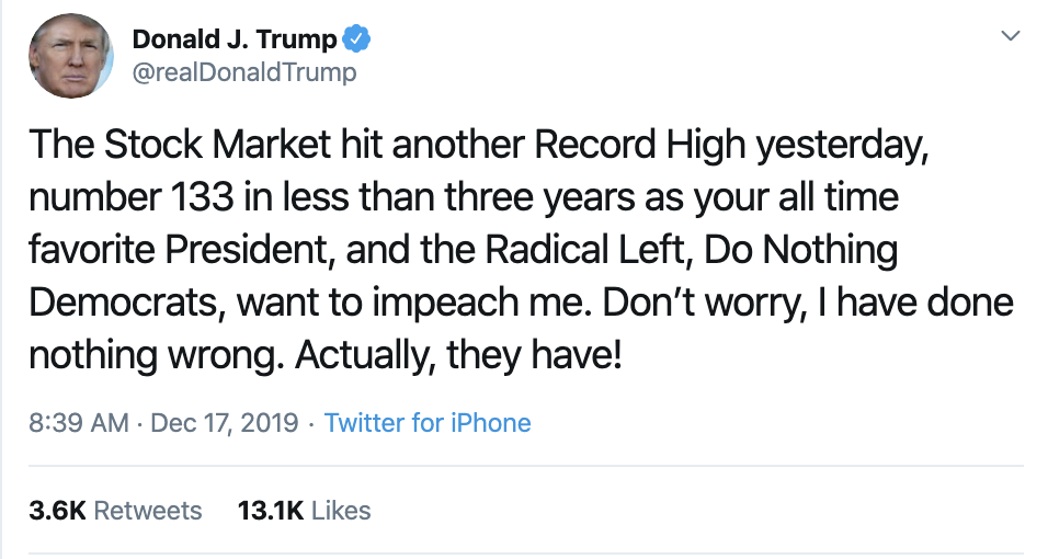 Screen-Shot-2019-12-17-at-8.55.10-AM Trump Tweets Desperate Tuesday AM Anti-Impeachment Rant Economy Election 2020 Featured Impeachment Top Stories