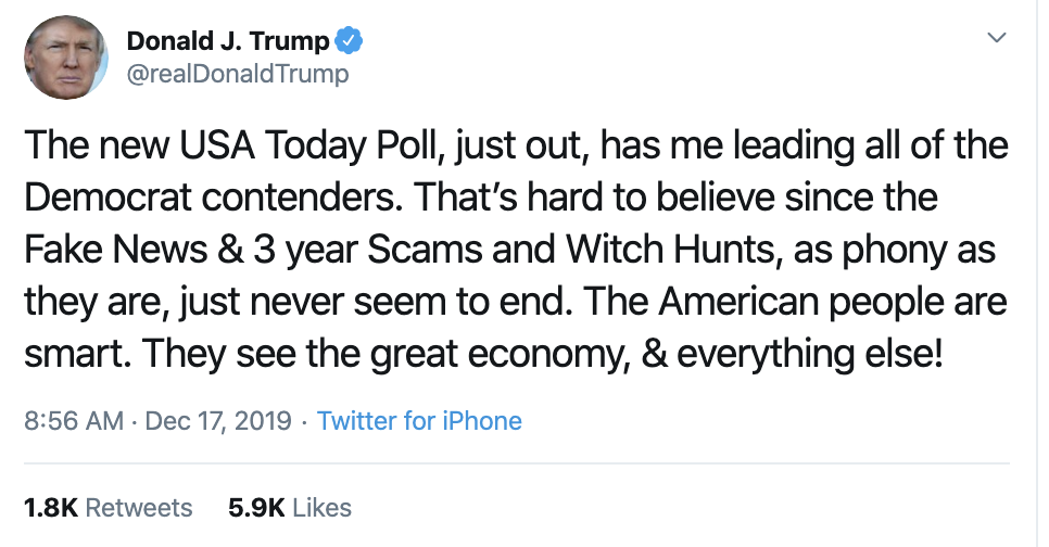 Screen-Shot-2019-12-17-at-9.05.14-AM Trump Tweets Desperate Tuesday AM Anti-Impeachment Rant Economy Election 2020 Featured Impeachment Top Stories