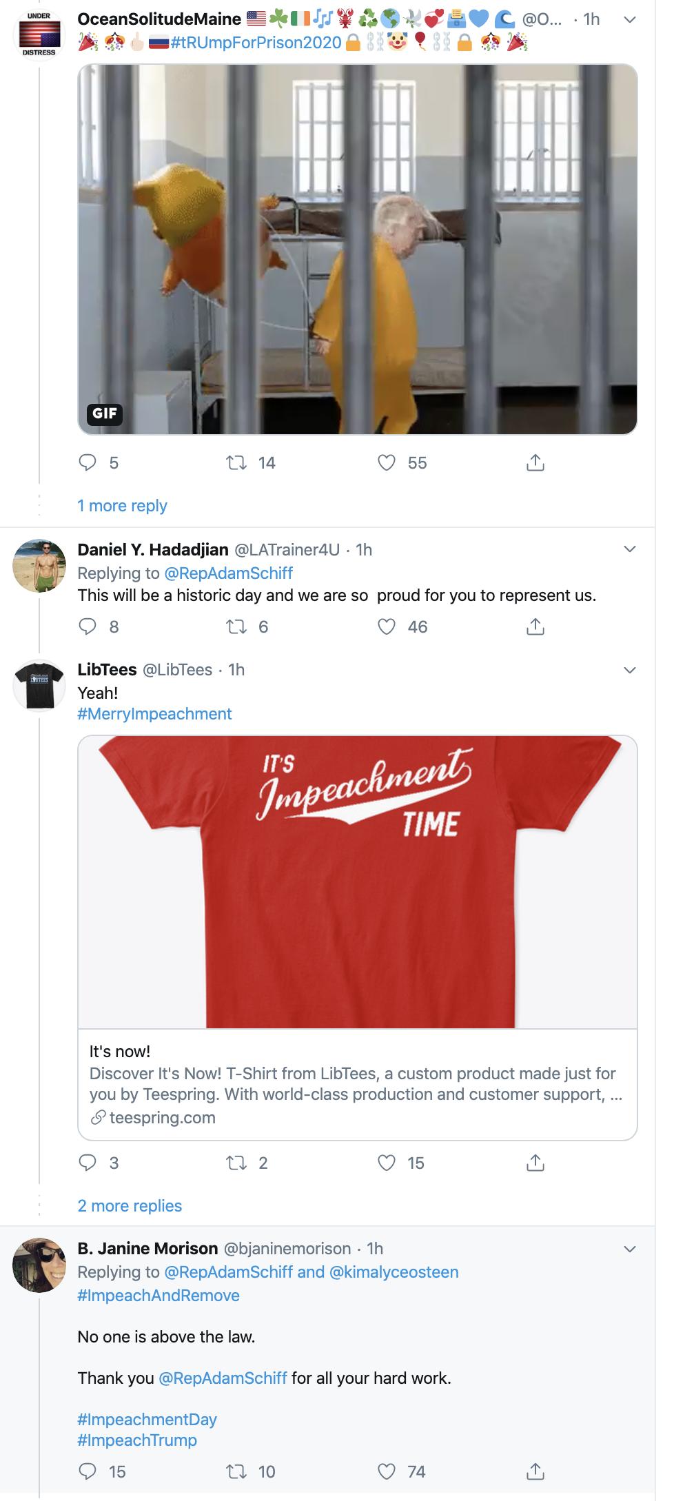 Screen-Shot-2019-12-18-at-8.32.06-AM Adam Schiff Tweets Impeachment Day Trolling Of Trump. Donald Trump Featured Impeachment Russia Top Stories