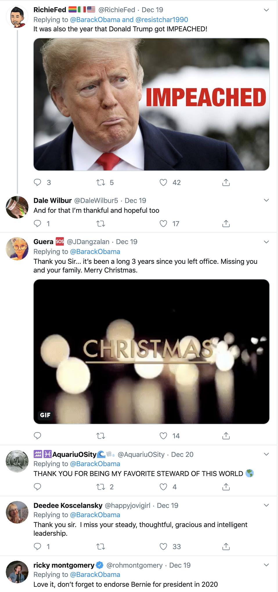 Screen-Shot-2019-12-22-at-9.45.06-AM Obama Tweets Inspirational Holiday Message To America Celebrities Domestic Policy Featured Politics Top Stories