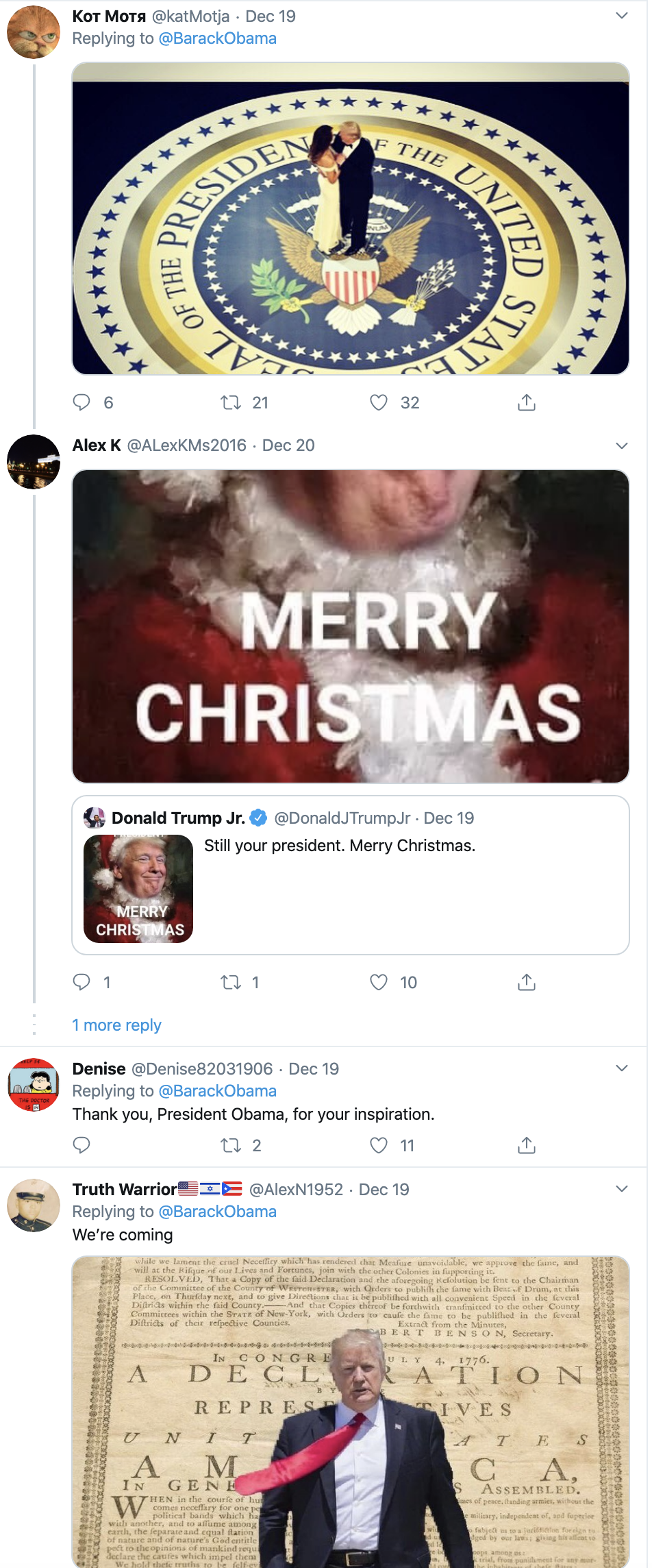 Screen-Shot-2019-12-22-at-9.45.31-AM Obama Tweets Inspirational Holiday Message To America Celebrities Domestic Policy Featured Politics Top Stories