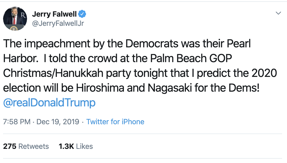 Screen-Shot-2019-12-23-at-12.11.45-PM Delusional Jerry Falwell Jr. Threatens Dems With Nuclear War Corruption Featured Politics Religion Top Stories