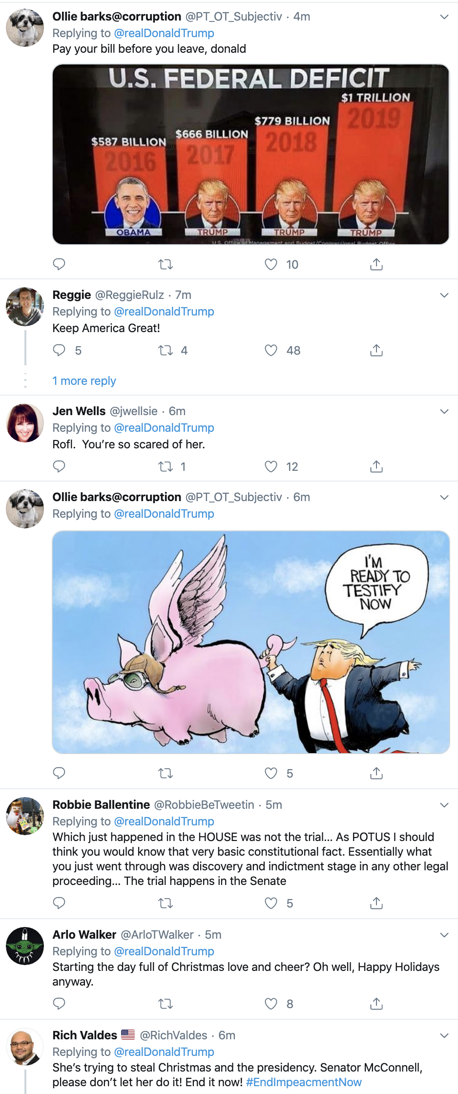 Screen-Shot-2019-12-23-at-7.46.47-AM Trump Flies Out Of Bed For Monday AM Impeachment Meltdown Election 2020 Featured Feminism Impeachment Top Stories