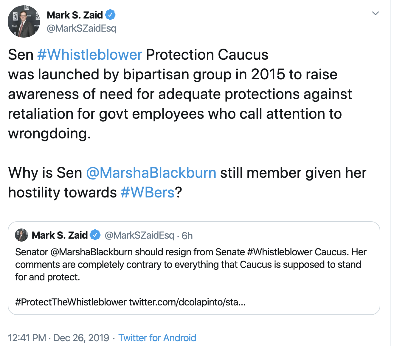 Screen-Shot-2019-12-26-at-3.38.12-PM Anti-Whistleblower GOP Rep. Joins Whistleblower Protection Caucus Corruption Crime Election 2016 Election 2020 Featured Top Stories