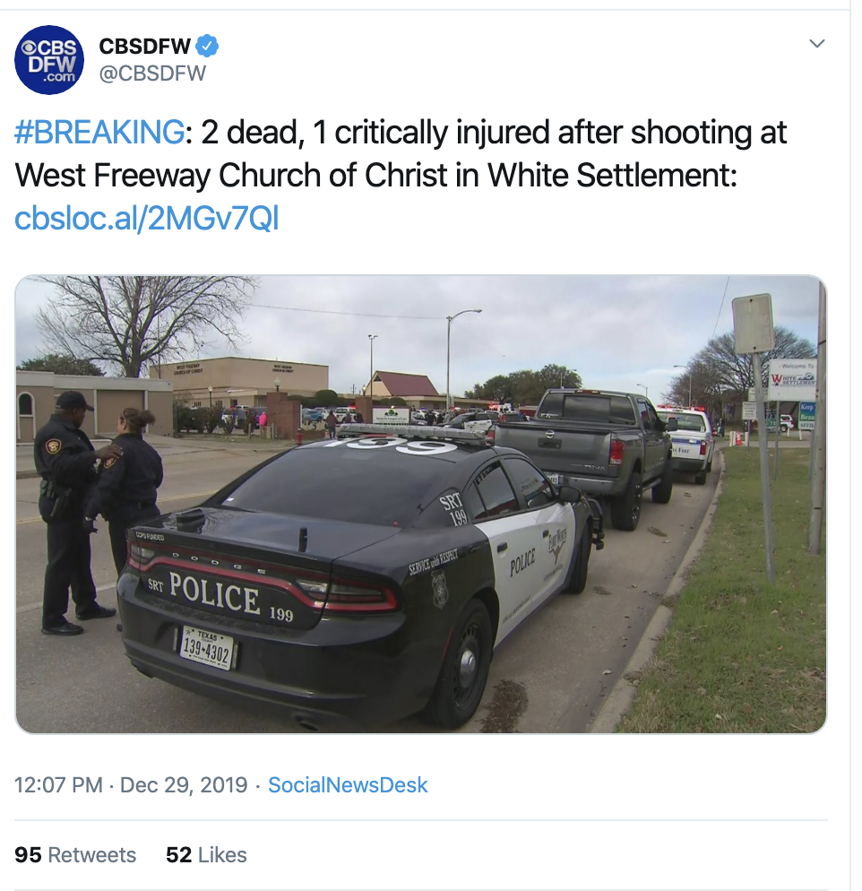 Screen-Shot-2019-12-29-at-1.33.26-PM Horrifc Sunday Church Shooting Hits Multiple Victims Featured Gun Control National Security Politics Top Stories