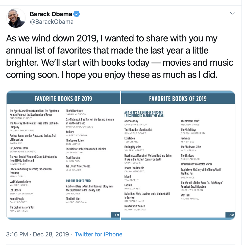 Screen-Shot-2019-12-29-at-10.56.07-AM Obama Returns With Inspirational Sunday Message To America Civil Rights Education Featured Politics Top Stories