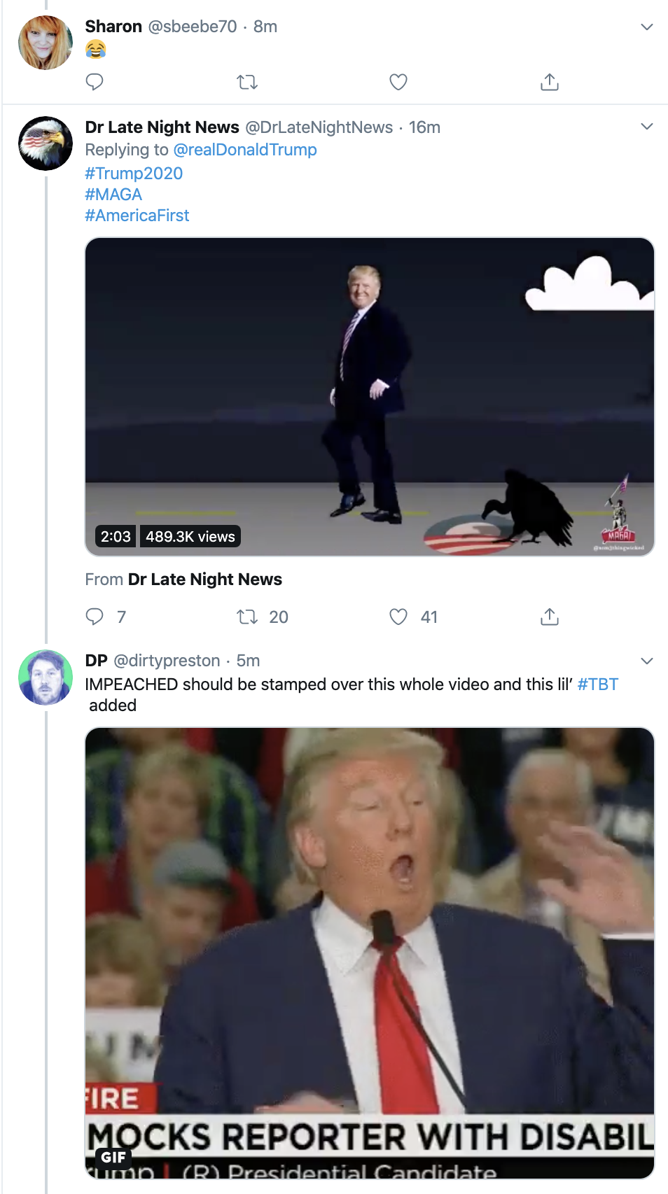 Screen-Shot-2019-12-29-at-7.21.33-AM Trump Tweets Idiotic Sunday Message To Pelosi & Regrets It Instantly Featured Feminism Mental Illness Politics Top Stories
