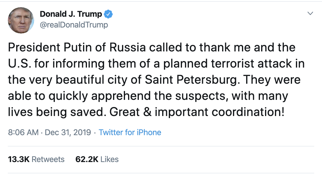 Screen-Shot-2019-12-31-at-9.53.54-AM Trump Continues Morning-Long Twitter Tirade Like He's Angry Domestic Policy Featured Top Stories War