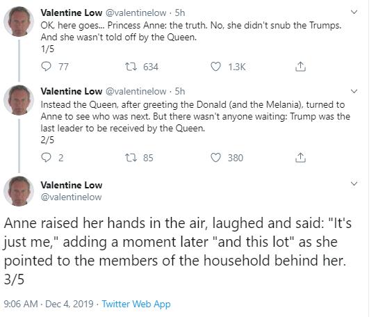 anne-exp Royal Princess Snubs Trump On Video In London Donald Trump Politics Social Media Top Stories