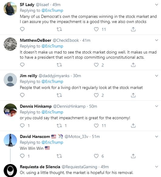 eric14 Eric Trump Tweets During Impeachment Vote & Instantly Regrets It Corruption Donald Trump Economy Impeachment Politics Social Media Top Stories