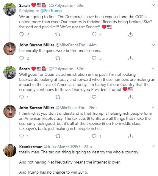 eric18 Eric Trump Tweets During Impeachment Vote & Instantly Regrets It Corruption Donald Trump Economy Impeachment Politics Social Media Top Stories