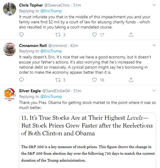 eric3 Eric Trump Tweets During Impeachment Vote & Instantly Regrets It Corruption Donald Trump Economy Impeachment Politics Social Media Top Stories
