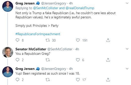 mc3 GOP Leader Publicly Humiliates Trump After Latest Twitter Gaffe Corruption Donald Trump Election 2020 Impeachment Politics Social Media Top Stories