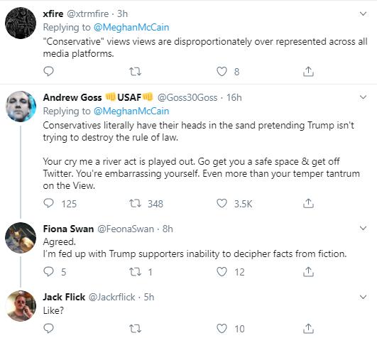 meg20 McCain Has Embarrassing Twitter Meltdown After On-Air Confrontation Donald Trump Impeachment Politics Social Media Top Stories