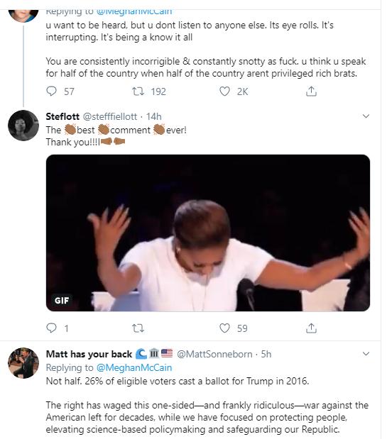 meg3 McCain Has Embarrassing Twitter Meltdown After On-Air Confrontation Donald Trump Impeachment Politics Social Media Top Stories