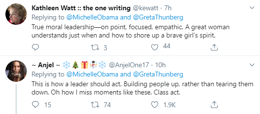 mich2 Michelle Obama Throws Shade At Trump Over Greta Thunberg Attack Activism Donald Trump Politics Social Media Top Stories