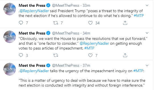 nadler Jerry Nadler Makes Trump Impeachment Evidence Declaration On Live TV Donald Trump Impeachment Investigation Politics Top Stories