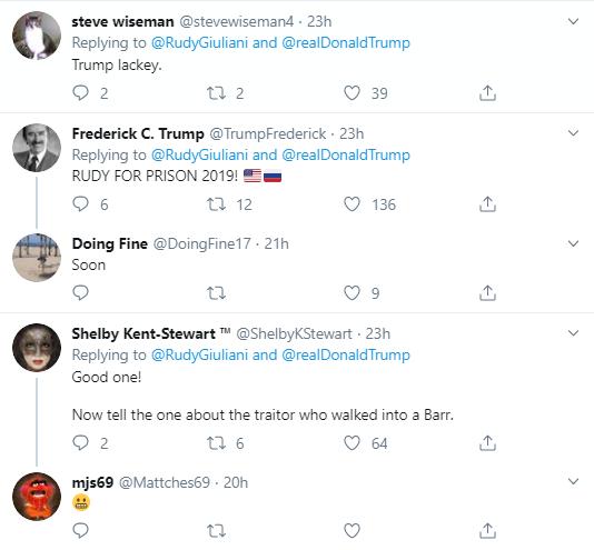 rg5-1 Giuliani Comes Unglued During Impeachment Hearing With Multi-Tweet Freakout Corruption Donald Trump Impeachment Politics Social Media Top Stories