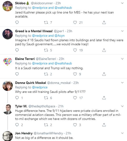 s6 Ex-Intel Slam Trump For Sucking Up To Saudis After Navy Shooting Corruption Donald Trump National Security Politics Social Media Top Stories