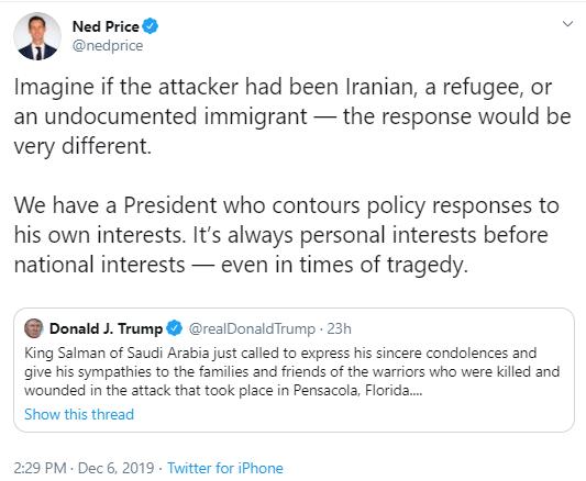 sausi3 Ex-Intel Slam Trump For Sucking Up To Saudis After Navy Shooting Corruption Donald Trump National Security Politics Social Media Top Stories
