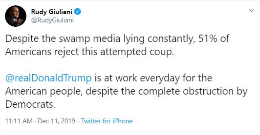 u1 Giuliani Comes Unglued During Impeachment Hearing With Multi-Tweet Freakout Corruption Donald Trump Impeachment Politics Social Media Top Stories