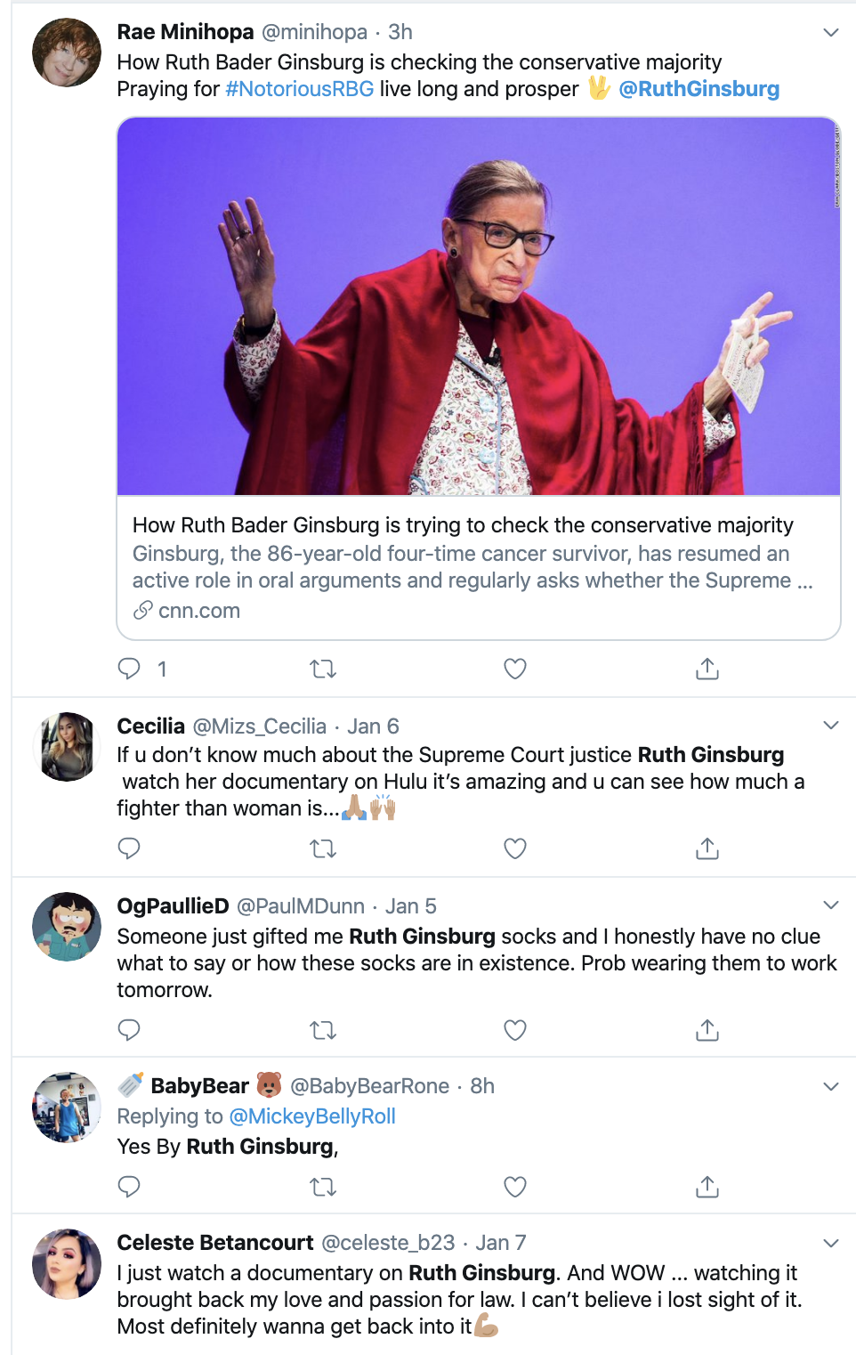 Screen-Shot-2020-01-08-at-5.14.32-PM Ruth Bader Ginsburg Health Check Statement Has Liberals Cheering Celebrities Featured Politics Top Stories Women's Rights
