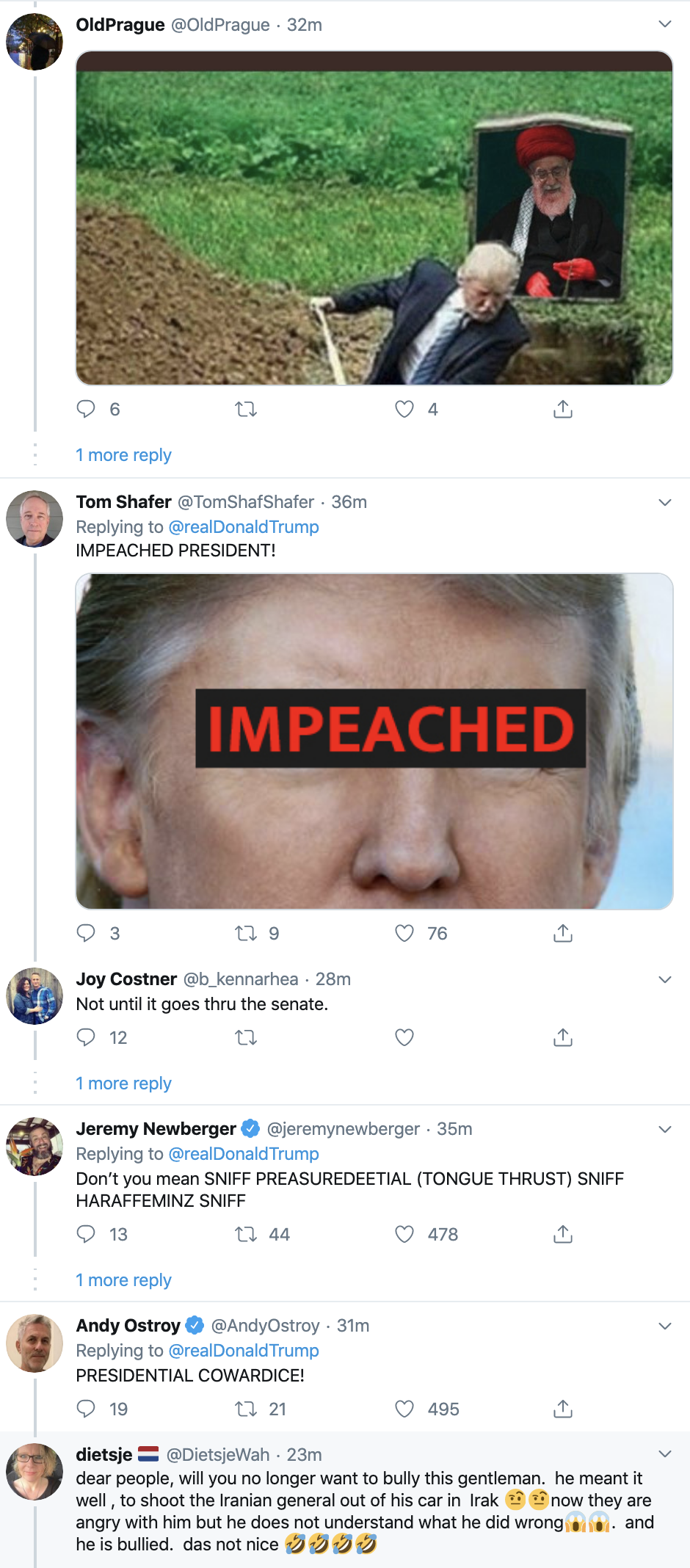 Screen-Shot-2020-01-09-at-7.08.44-AM Trump Rebuked Hard After Going Off On Twitter Thursday Morning Donald Trump Featured Impeachment Politics Top Stories
