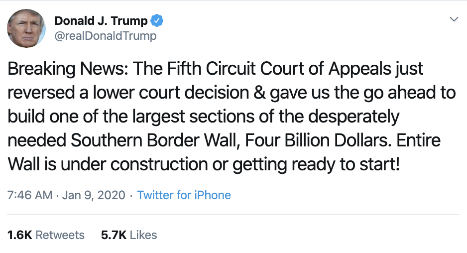 Screen-Shot-2020-01-09-at-7.48.41-AM Trump Rebuked Hard After Going Off On Twitter Thursday Morning Donald Trump Featured Impeachment Politics Top Stories
