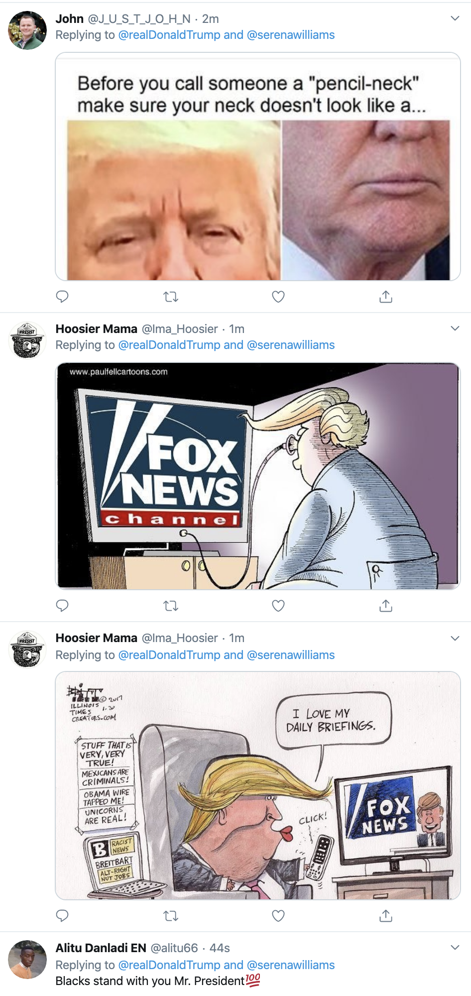 Screen-Shot-2020-01-12-at-7.31.13-AM Trump Spazzes Into Sunday Morning Multi-Tweet Conniption Fit Election 2020 Featured Politics Sports Top Stories