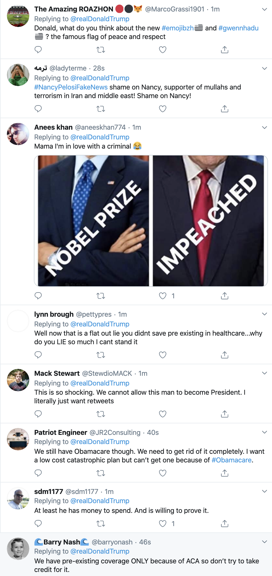 Screen-Shot-2020-01-13-at-7.42.27-AM Trump Takes Credit For Obamacare In Monday AM Twitter Whine Election 2020 Featured Healthcare Politics Top Stories