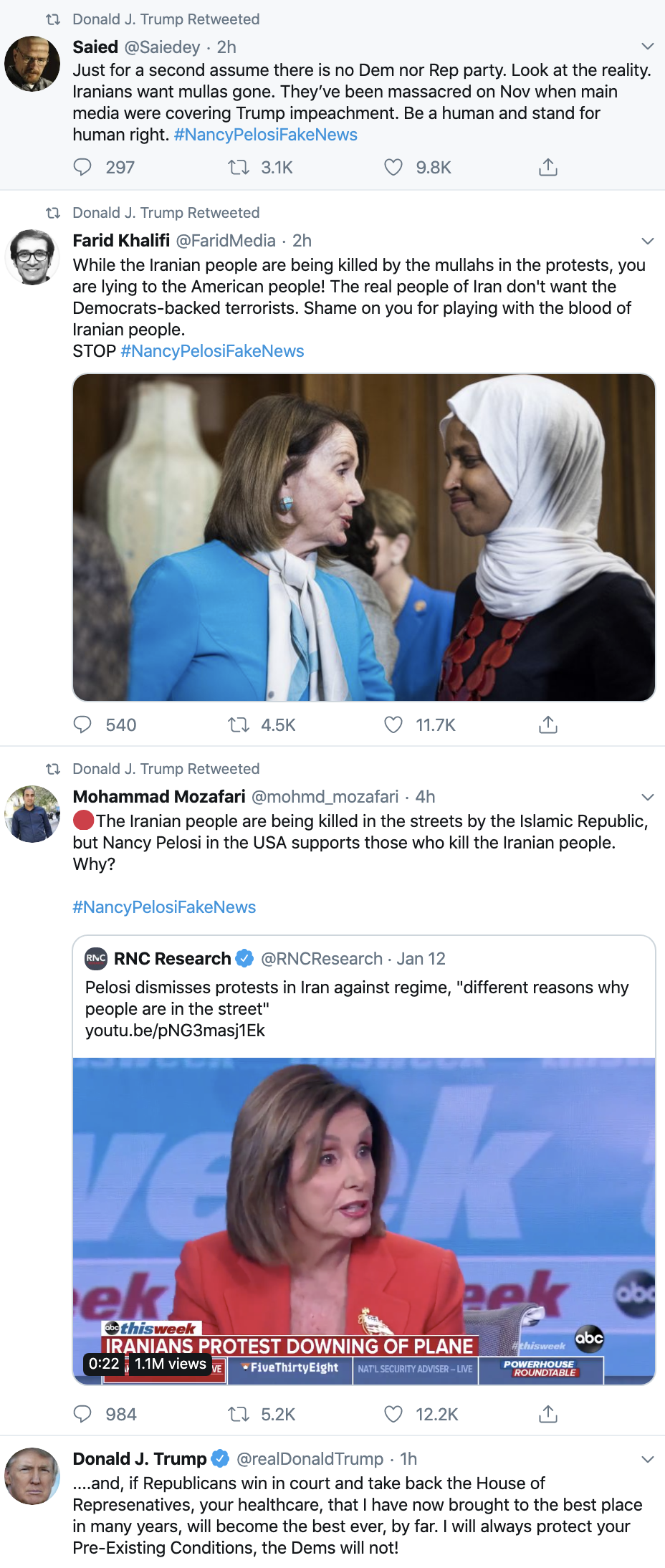 Screen-Shot-2020-01-13-at-9.29.26-AM People Flip Out After Trump Tweets Racist Anti-Muslim Meme Election 2020 Featured Impeachment Religion Top Stories