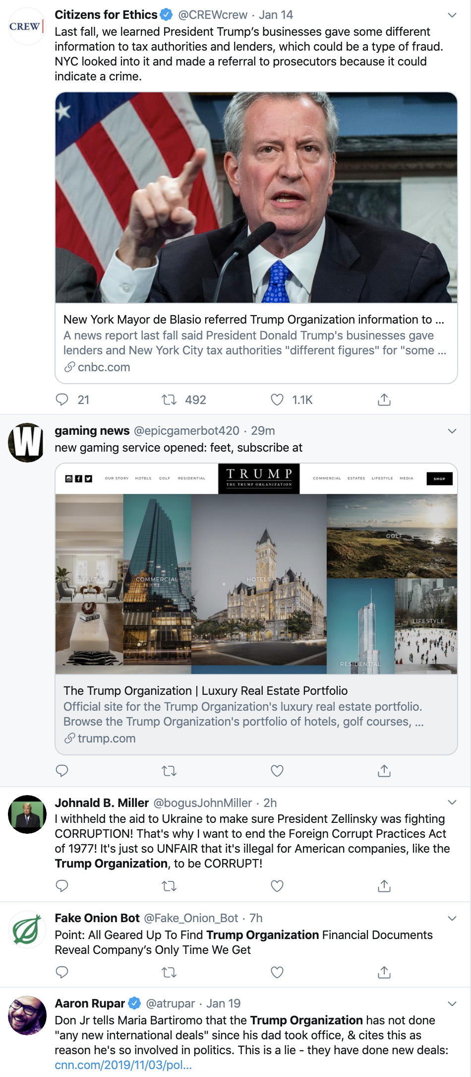 Screen-Shot-2020-01-20-at-1.22.48-PM Taxpayer Money Funnel To Trump Businesses Announced By 'Politico' Corruption Crime Domestic Policy Featured Foreign Policy Top Stories