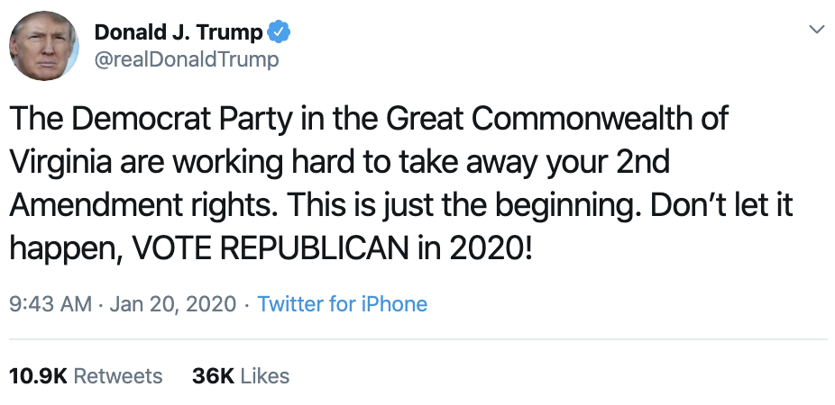 Screen-Shot-2020-01-20-at-10.35.14-AM Trump's MLK Day Tweet Embarrasses Republican Party Corruption Featured Impeachment Racism Top Stories