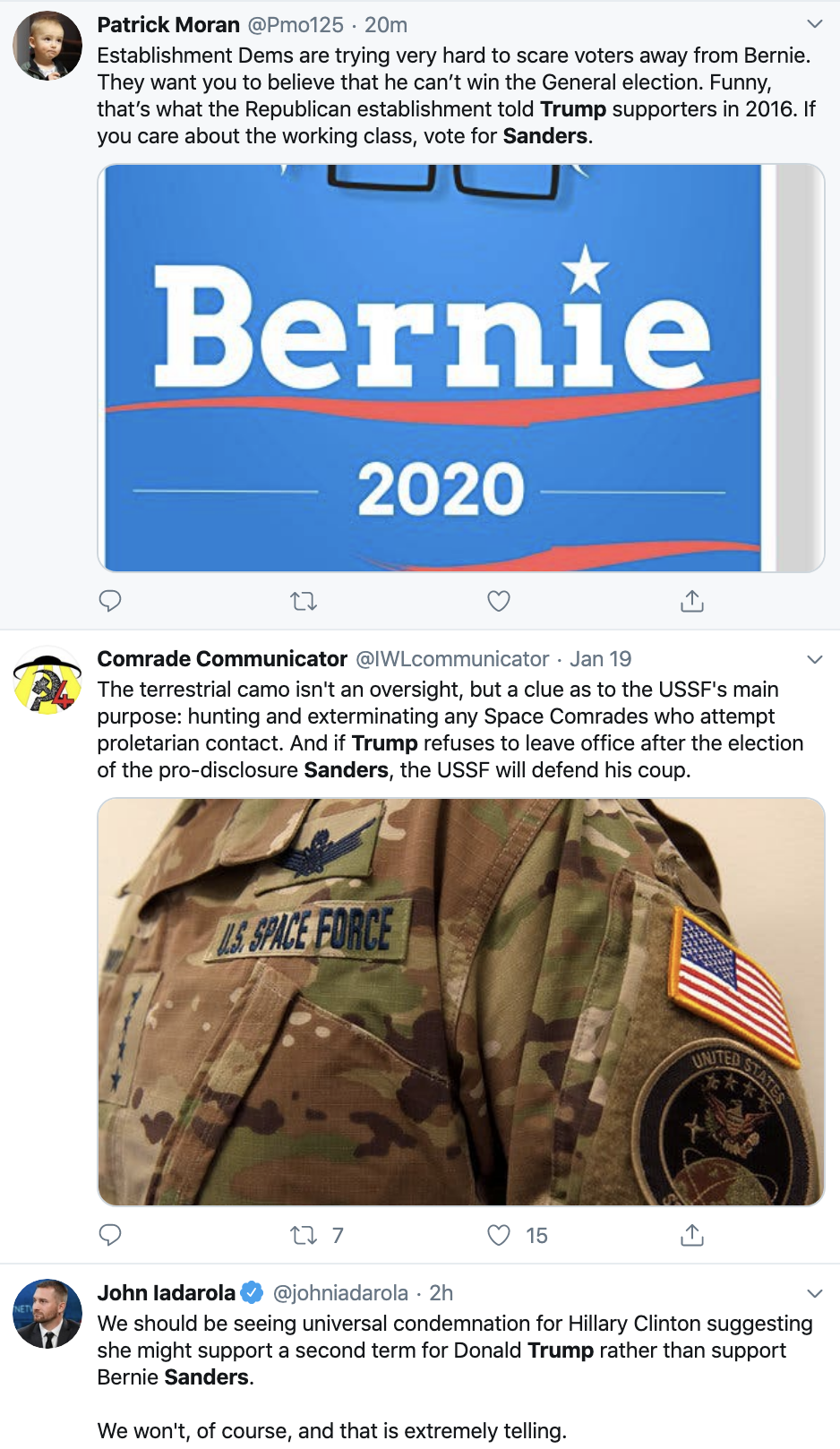 Screen-Shot-2020-01-21-at-1.18.36-PM Bernie Responds To Unprovoked Hillary Attack Like A Comedian Election 2016 Election 2020 Featured Hillary Clinton Top Stories