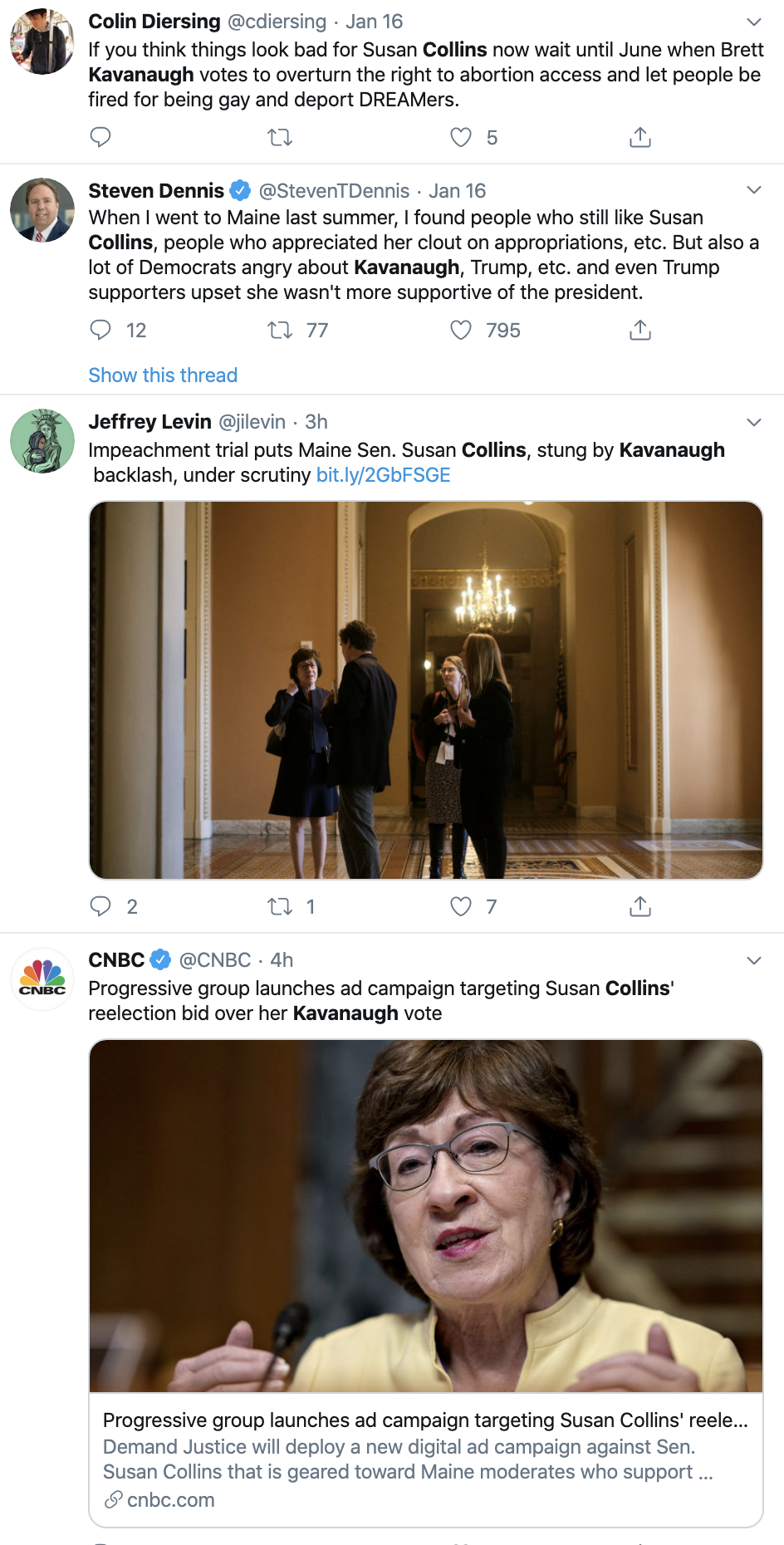 Screen-Shot-2020-01-21-at-11.13.16-AM Susan Collins' Opponent Gets Ringing Endorsement Abortion Featured Feminism Top Stories Women's Rights
