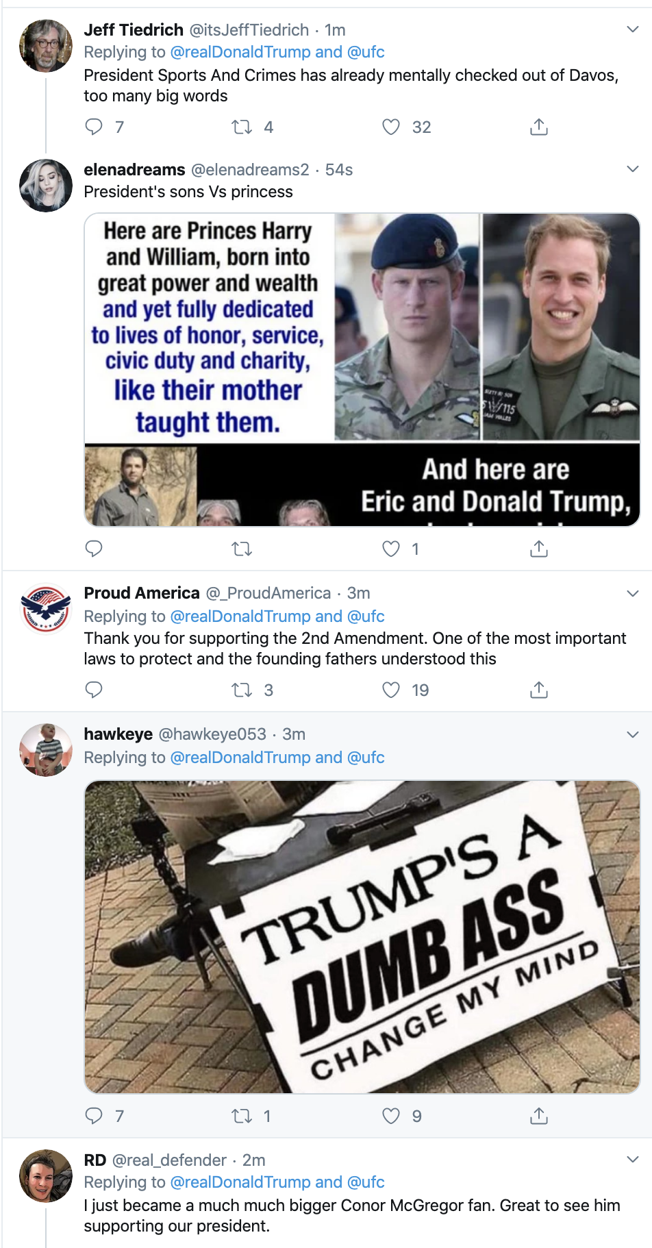 Screen-Shot-2020-01-21-at-7.29.18-AM Trump Tweets Message To Racist UFC Fighter Conor McGregor Celebrities Donald Trump Economy Featured Sports Top Stories