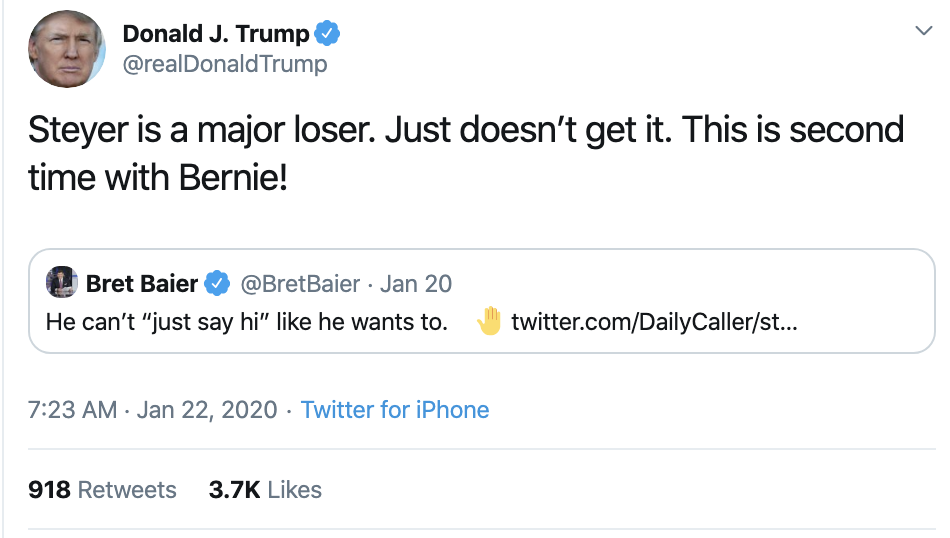 Screen-Shot-2020-01-22-at-7.30.34-AM Trump Tweets Impeachment Induced Gibberish During AM Meltdown Economy Election 2020 Featured Impeachment Top Stories