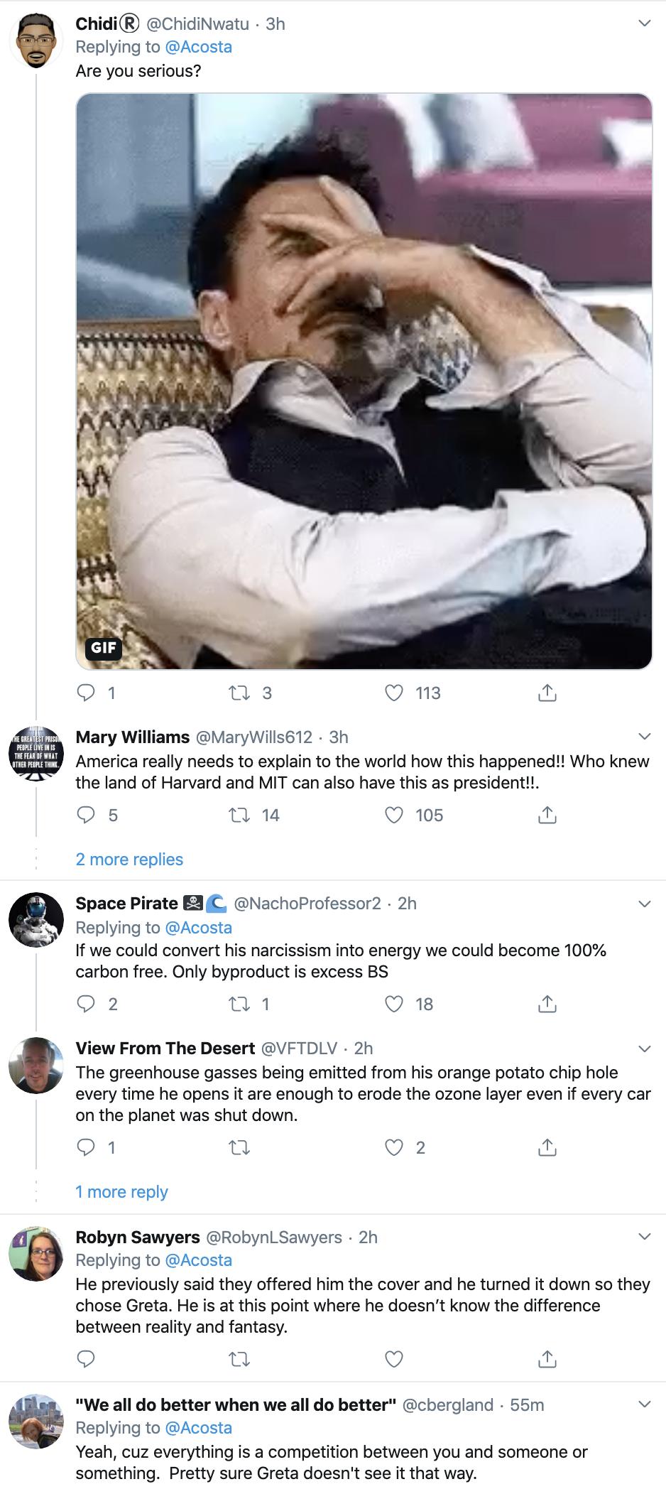 Screen-Shot-2020-01-22-at-9.29.57-AM Acosta Follows Trump In Switzerland & Publicly Trolls Him Hard Featured Impeachment Media Top Stories Twitter