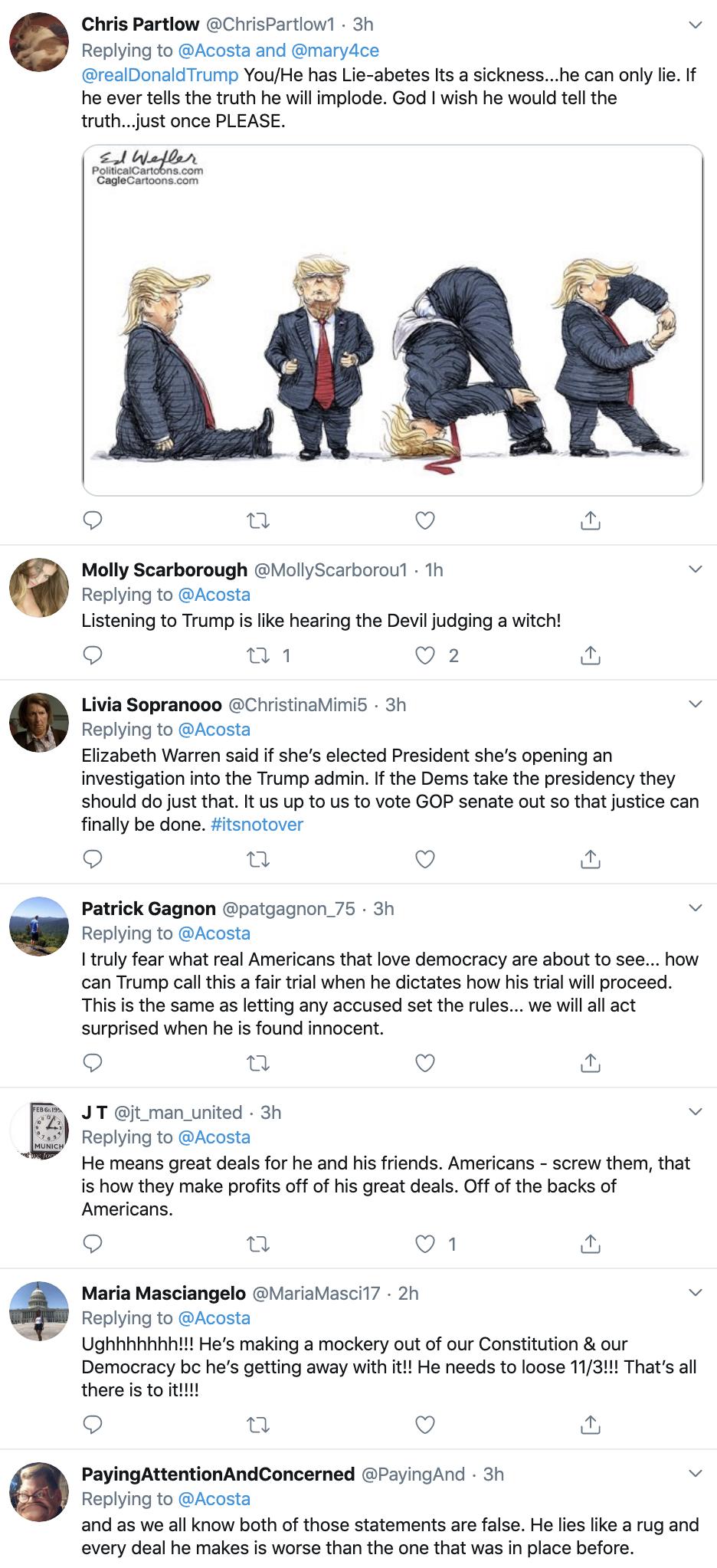Screen-Shot-2020-01-22-at-9.31.45-AM Acosta Follows Trump In Switzerland & Publicly Trolls Him Hard Featured Impeachment Media Top Stories Twitter
