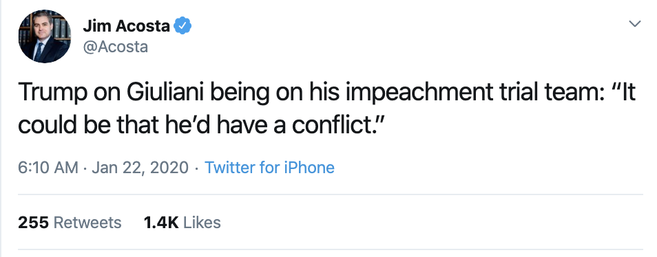 Screen-Shot-2020-01-22-at-9.34.26-AM Acosta Follows Trump In Switzerland & Publicly Trolls Him Hard Featured Impeachment Media Top Stories Twitter