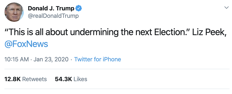 Screen-Shot-2020-01-23-at-1.57.37-PM-1 Trump Delivers Thursday Afternoon Impeachment Whine Election 2020 Featured Impeachment Politics Top Stories