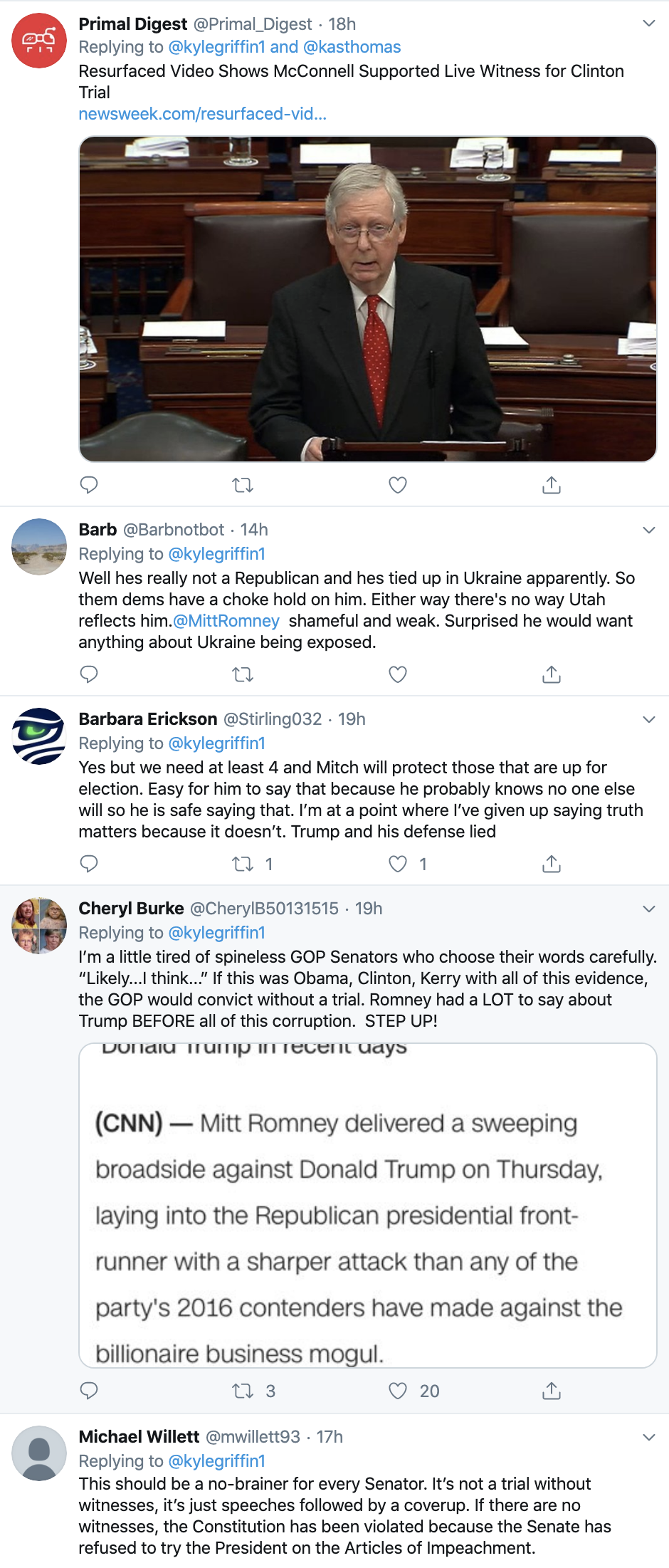 Screen-Shot-2020-01-26-at-9.15.01-AM Romney Terrifies Trump With Vote For Impeachment Witness Weekend Statement Election 2020 Featured Impeachment Politics Top Stories