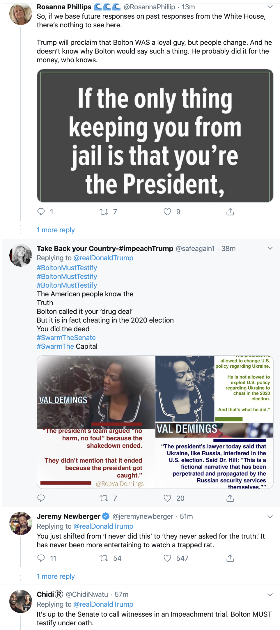 Screen-Shot-2020-01-27-at-6.58.54-AM Trump Blatantly Lies About Bolton In Monday AM Spiral Election 2020 Featured Impeachment Politics Top Stories