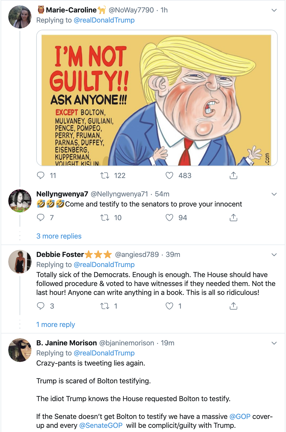 Screen-Shot-2020-01-27-at-6.59.57-AM Trump Blatantly Lies About Bolton In Monday AM Spiral Election 2020 Featured Impeachment Politics Top Stories
