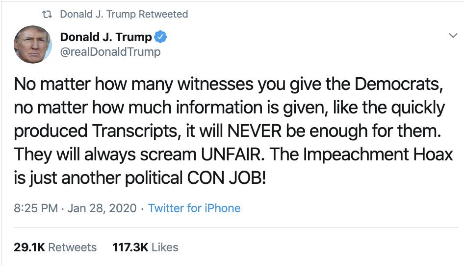 Screen-Shot-2020-01-29-at-7.24.08-AM Trump Rages Online About Historic Impeachment Corruption Featured Impeachment Politics Top Stories