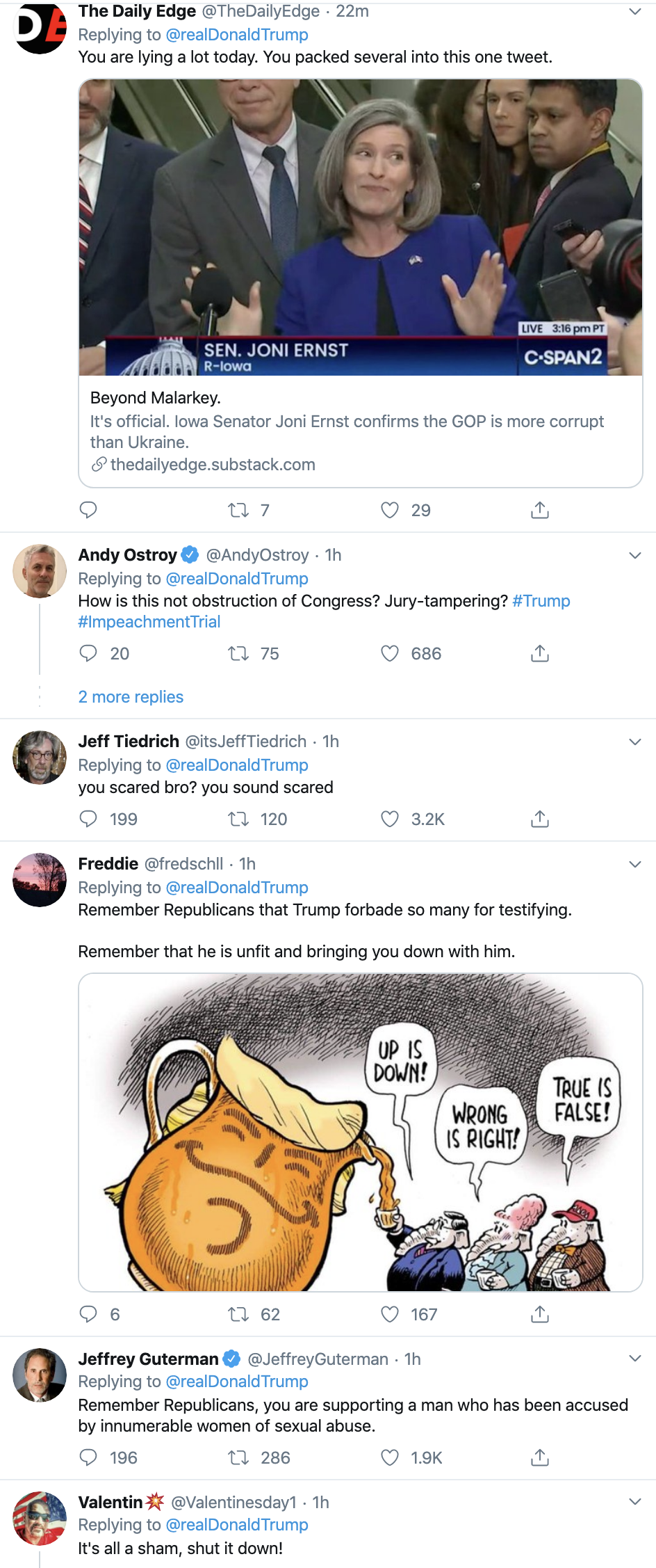 Screen-Shot-2020-01-29-at-8.19.59-AM Trump Just Attacked Witness John Bolton On Twitter Corruption Crime Featured Impeachment Top Stories