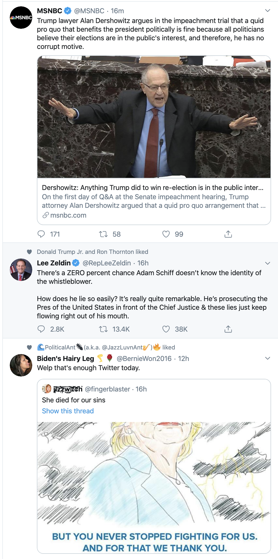 Screen-Shot-2020-01-30-at-8.46.41-AM Pelosi Owns Trump With Impeachment Evidence Twitter Trolling Uncategorized