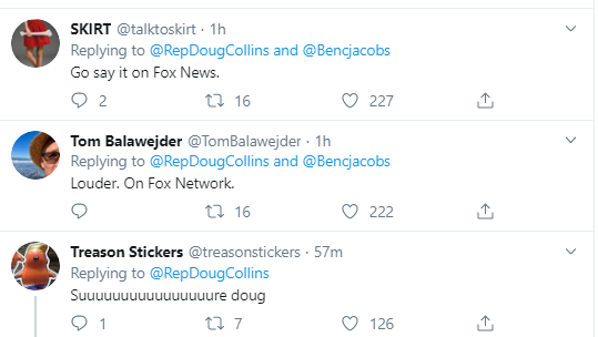doug18 Doug Collins Walks Back Whiny Criticism Of Dems In Humiliation Donald Trump Military National Security Politics Social Media Top Stories