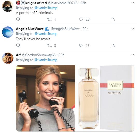 ivanka14 Ivanka Publicly Tweets To Jared & Immediately Regrets It Corruption Donald Trump Politics Social Media Top Stories